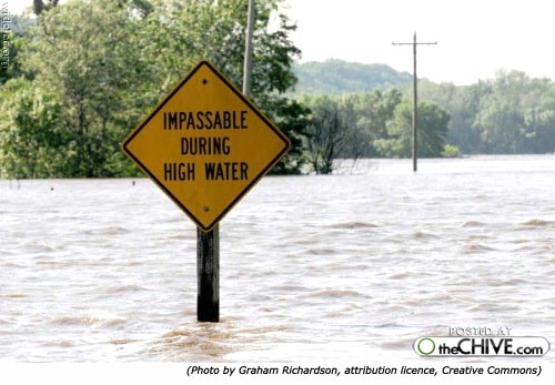 Hilarious silly sign: Impassable during high water!