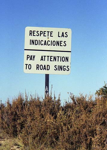 Funny signs and funny road signs: Respete las indicaciones. Pay Attention to Road Signs!