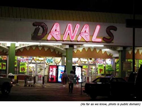 Hilarious signs. Funny neon signs: Anal!