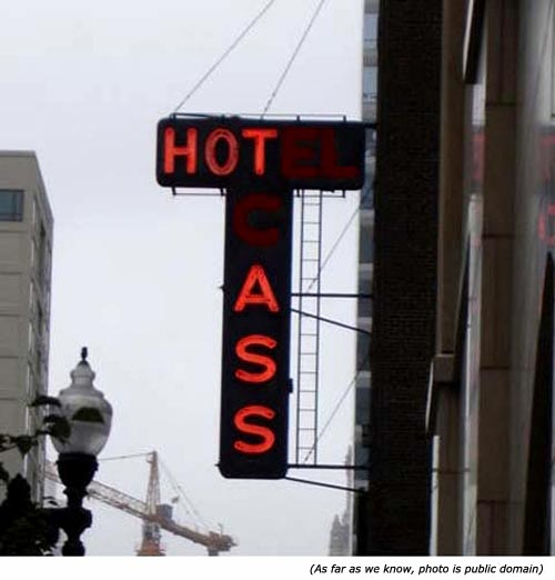 Hilarious hotel signs and neon signs: Hot Ass