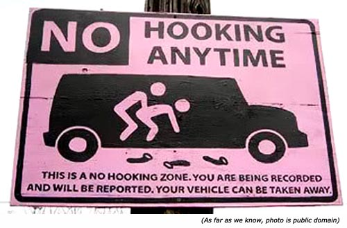 No hooking anytime!