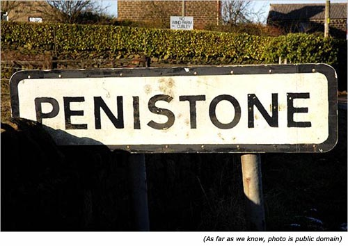 Funny street name: Penistone!