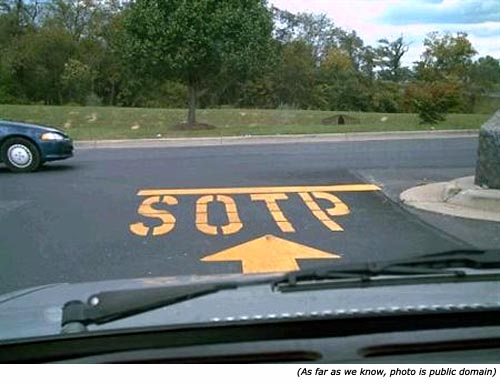 Silly and funny stop signs: SOPT!