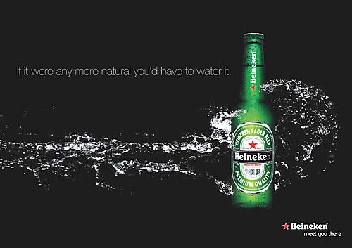 Heineken beer ads - pure as water