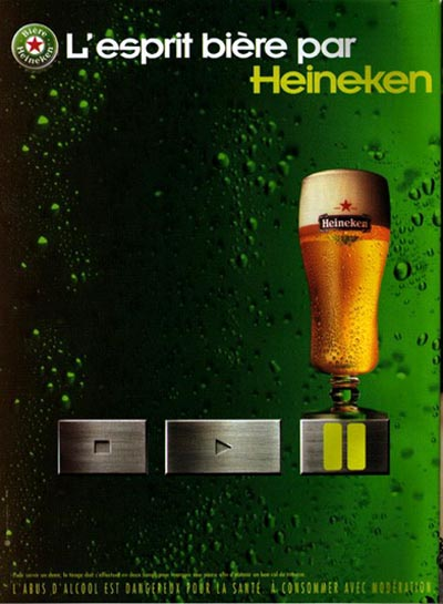 Heineken beer ads - on pause