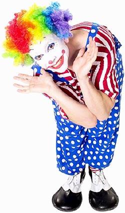 Funny birthday clown.