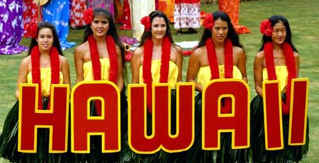 Hawaii nickname: The Aloha State - picture of pretty Hawaii girls