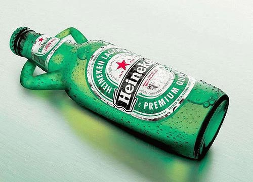 Heineken beer ads - beer relaxing