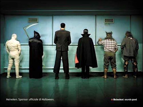 Heineken alcohol ads - Halloween sponsor - good beer ads