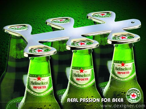 Heineken ad - opening the six pack -  great alcohol ads