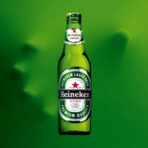 Heineken beer commercial - hand reaching for the Heineken