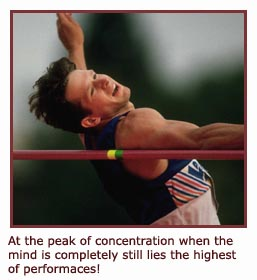 Inspirational sports - picture of athlete doing high jump