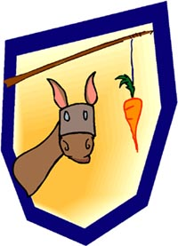 Rewarding yourself for keeping your resolutions like hanging a carrot in front of a donkey.