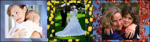 Example of illustrations and events to use in personalized photo books.