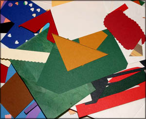 Scrapbooking materials for creating homemade photo books.