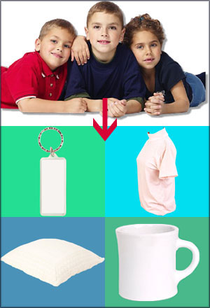 3 kids on a picture for a t shirt gift, a mug gift, a key chain gift or a cushion gift.