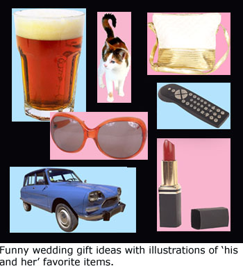 Creative Wedding gifts: Personalized photo gifts: Men's and Women's favorite things.
