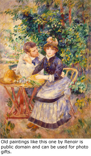 Artistic gifts: Make a gift from Renoir's painting 'In the Garden' that is in public domain.