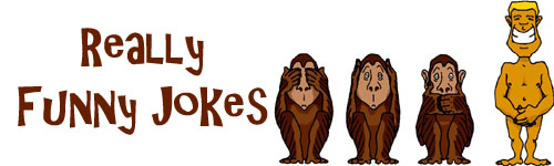 Really funny jokes: 3 monkeys, no see, hear or speak and a naked man.