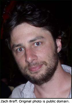 Photo of JD Dorian from Scrubs (played by Zach Braff).