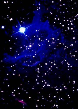 Picture of dark night sky with lots of shining stars.