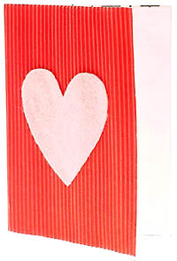 Short love poetry for your Valentines cards: Photo of homemade Valentines Day card.