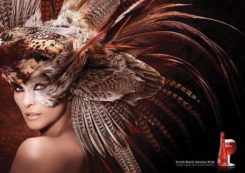 Super Bock beer ads, Turns game into a masterpiece - woman with bird hat!