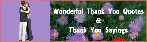 Thank you quotes: Man and woman hugging and flowers.