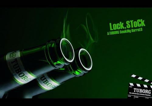 Lock, Stock and Tuborg Smoking Barrels.