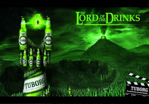 Tuborg beer commercial - The Lord of the Drinks! Great alcohol ads