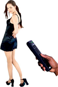 Funny unusual gifts for him: control a woman remote.
