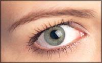 Woman's eye, green eye.