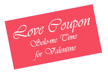Love coupon with Solo-me time.