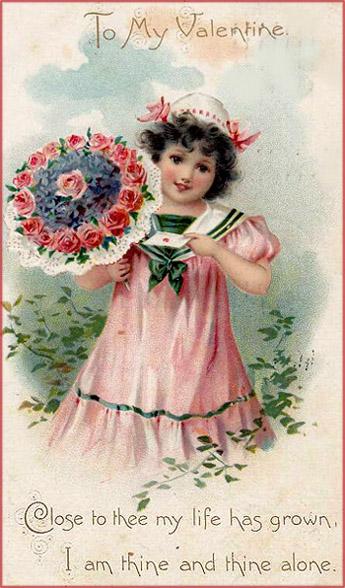 A little as a messenger of a Valentine card.