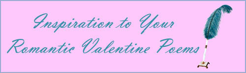 Blue feather pen to write romantic Valentine cards.