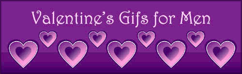 Valentines Day gifts for men: Purple hearts.