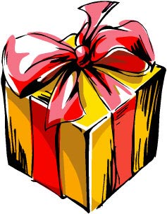 Picture of a wrapped up present