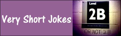 Very short jokes - funny graffiti - 2b or not to be