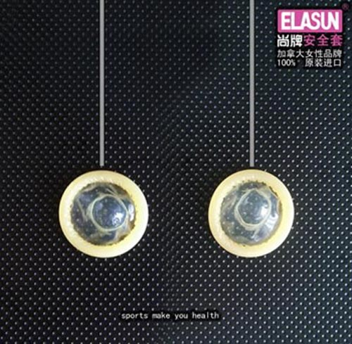 Elasun condom ads: rings athletics
