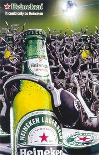 Heineken commercials - Heineken beer dj playing for bottle openers