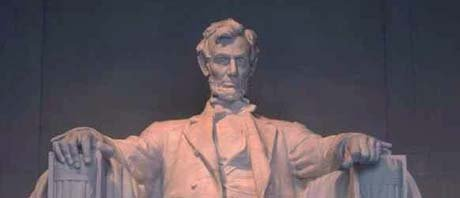 Illinois nickname: Land of Lincoln - statue of Lincoln