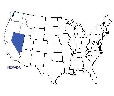 USA map with Nevada highlighted