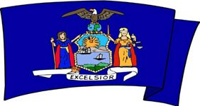 New York state motto - new york flag