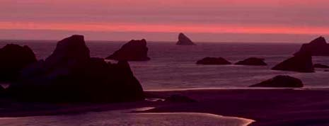 Oregon nickname: The Sunset State - picture of sunset