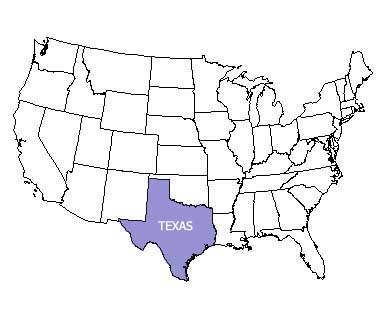 Texas State Motto Nicknames And Slogans - Us-map-with-texas-highlighted
