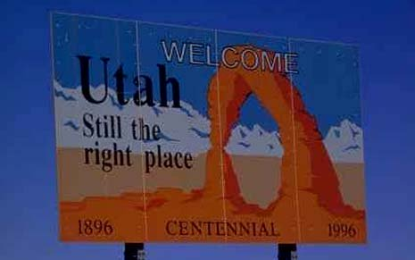 Utah state slogan: This is still the right place
