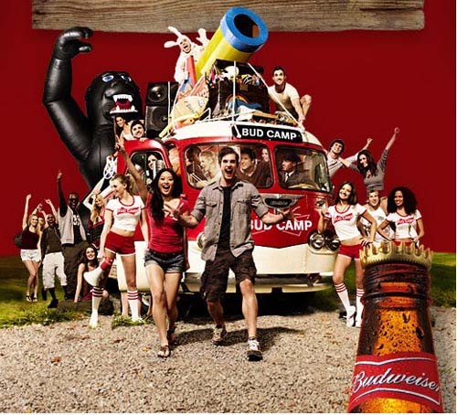 Budweiser ads - Bud camp alcohol ads