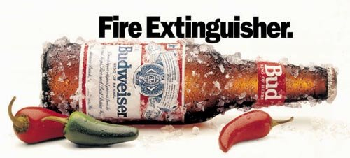 Budweiser commercials - Fire Extinguisher - great beer ads with chilly