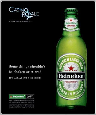 Heineken beer commercial - casino royal - some things shouldnt be shaken or stirred