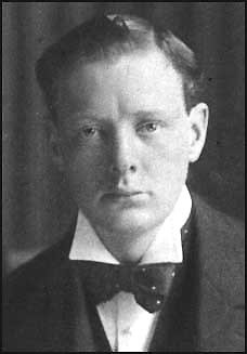 Photo of a very young Winston Churchill.